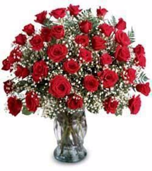 Picture of 36 Roses in Vase